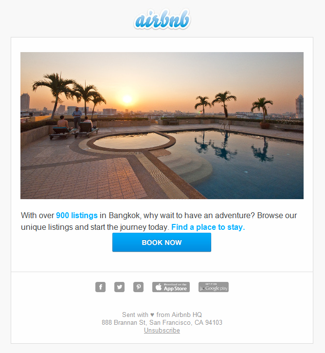 Email Marketing Case & interview AirBnb: Imagine yourself here