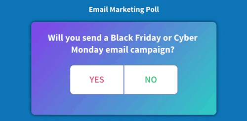 interactive email marketing poll in AMP